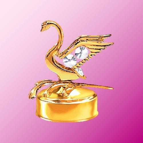 2019高い素材  24 Kゴールドメッキ白鳥音楽ボックス。 24 B00D3RBCRW。。。Withクリアオーストリアクリスタル B00D3RBCRW, アキタシ:c65bbb54 --- arcego.dominiotemporario.com