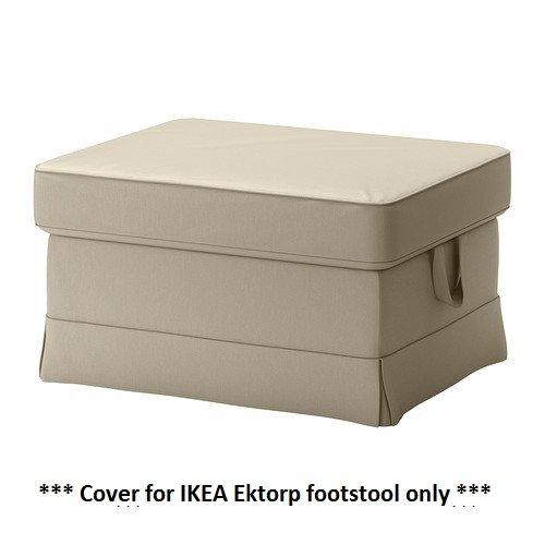 IKEA EKTORP - Slipcover for Footstool Tygelsjo Beige (cov...