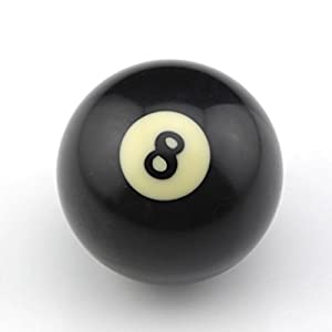 American schwarz Nr. 8Billard Queue Ball 5,1cm schwarz