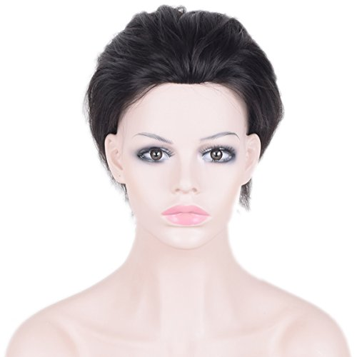 Auspiciouswig Natural Human Hair Pieces Men's Toupee Wigs...