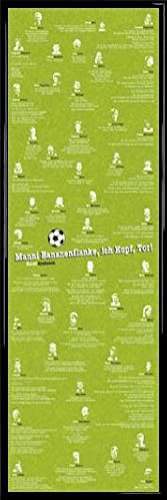 1art1 Football Door Poster and Frame (Plastic) - Stupid Phrases (62 x 21 inches)