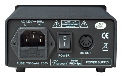 Vincent PHO 8 Phono Stage MM/MC Outboard Power Supply Silver by Vincent (Image #2)