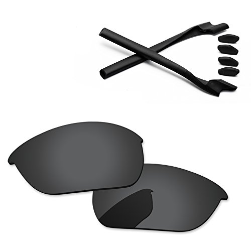 4d59b27239e PapaViva Replacement Lenses   Rubber Kits for Oakley Half Jacket 2.0 Black  Grey