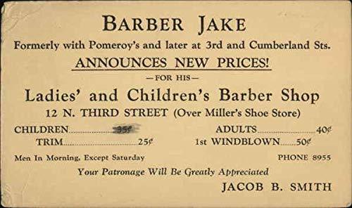 - Vintage Advertising Postcard: Barber Jake Advertising