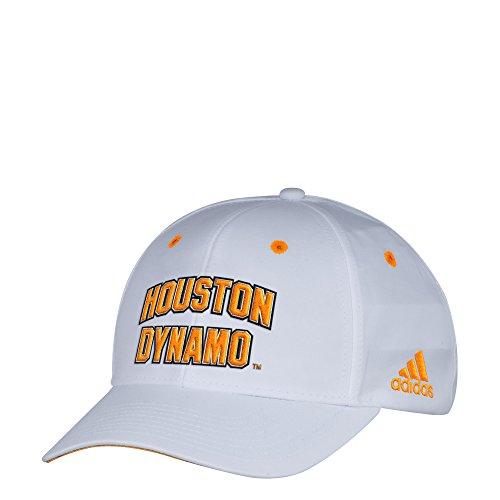 c9af228f80c7e adidas MLS Houston Dynamo Men s White Wordmark Structured Adjustable ...