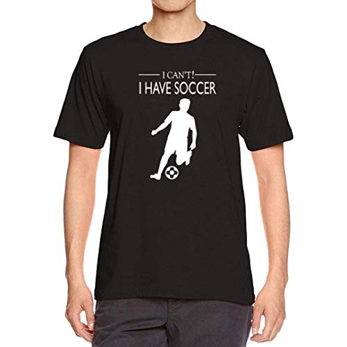 Mens Tees, Casual Summer Basic T-Shirt Short Sleeve Soccer Letter Printing Blouses (XL, Black 2)