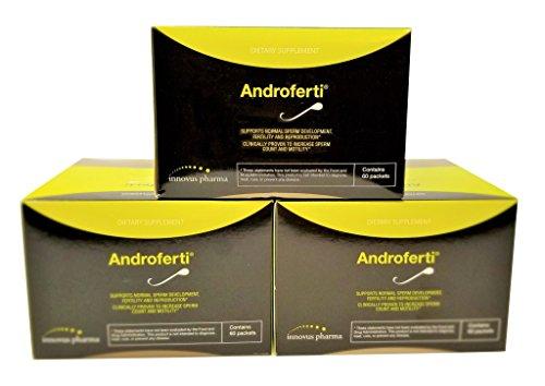 Androferti | Fertilité Masculine Compléter | Améliorer La Concentration De Spermatozoïdes | Pack De Trois - 60 Paquets