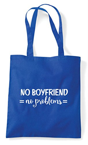 Blue Statement Boyfriend Royal No Bag Single Tote Problems Shopper Sfwwz8xOq