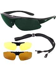 Rapid Eyewear Pro X Rx GOLFBRILLE mit Sehstärke Rahmen für Damen und Herren. Polarisierte Wechselgläsern. UV400 Golf Sonnenbrille