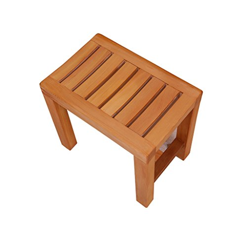 GSHWJS Bath Stool Wooden Shower Seat Replacement Shoe Stool Elderly/Disabled Slip Fast Dry Moisture Heavy Duty Shower Stool Stool Shower Bathroom Bath Stool