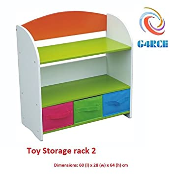 g4rce childrens kids 3 tier toy bedroom storage shelf unit rack 3 rh amazon co uk bedroom storage shelf unit bedroom storage shelf unit