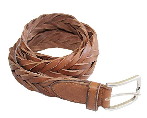 American Eagle Brown Belt - American Eagle Men's AE Braided Leather Belt (Size 38) Brown