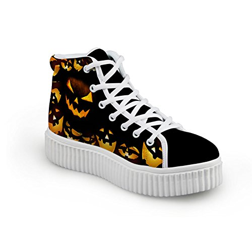 Hight Bigcardesigns Flat Sneakers Women Style Halloween Casual Shoes Design Top 6 IZgYZqwrx