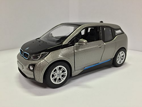 Download 1:32 Scale BMW i3 Electric Car Model (Andesite Silver Metallic w/ BMW i Frozen Blue accent)
