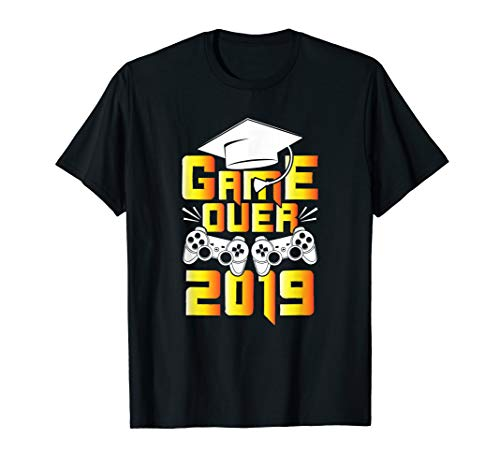 Game Over 2019 Graduation Shirt Gamer Graduate Gifts T-Shirt
