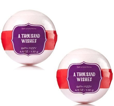 Bath and Body Works A Thousand Wishes Signature Collection Bath Fizzy 2 Pack 4.6 Oz / 130 g - Freesia Bath Soak