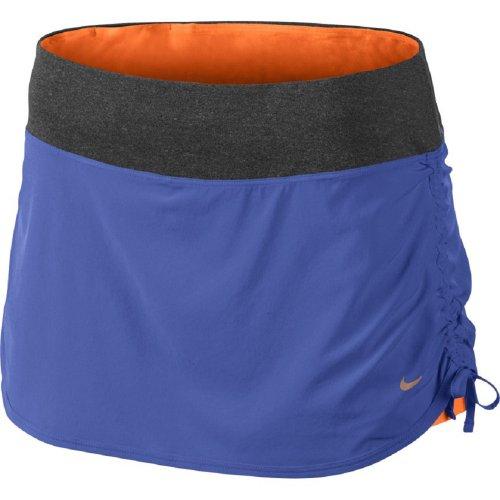 Nike Women's Rival Stretch Woven Running Skort Skirt-Purple/Gray