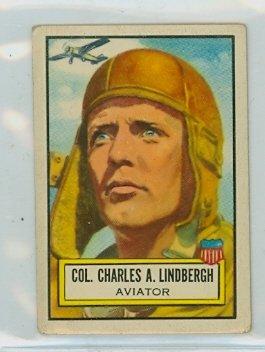1952 Topps Look N See 30 Charles Lindberg Single Print Fair to Good Single Print