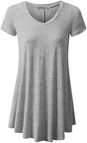 URBANCLEO Womens Basic eLong Tunic Top Mini T-shirt Dress (PLUS Size Available)