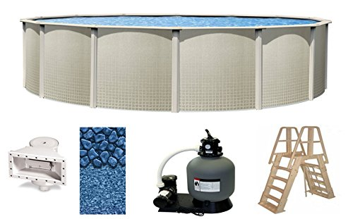 wilbar-impressions-24-foot-x-48-inch-round-above-ground-complete-swimming-pool-kit-bundle-includes-l