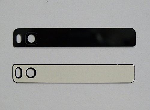 Ersatz KAMERA LINSE Glas (Oben) für Huawei P8 Backcover mit Blitzausschnitt und Kameralinse inkl. 3M Klebestreifen - SCHWARZ BLACK