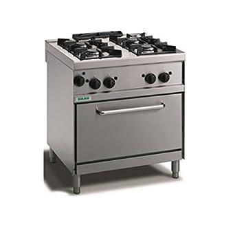 Cocina a gas 4 fuegos sobre horno a gas a Conveccion. 80 x 70 x