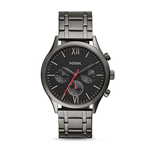 Fossil Fenmore Midsize Multifunction Smoke Stainless Steel Watch BQ2408