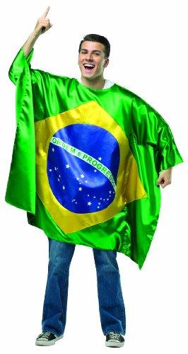 [Rasta Imposta Men's Flag Tunic- Brazil, Multi, One Size] (Brazil Costume Male)