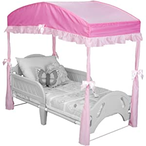 Delta Children's Girls Canopy for Toddler Bed 4