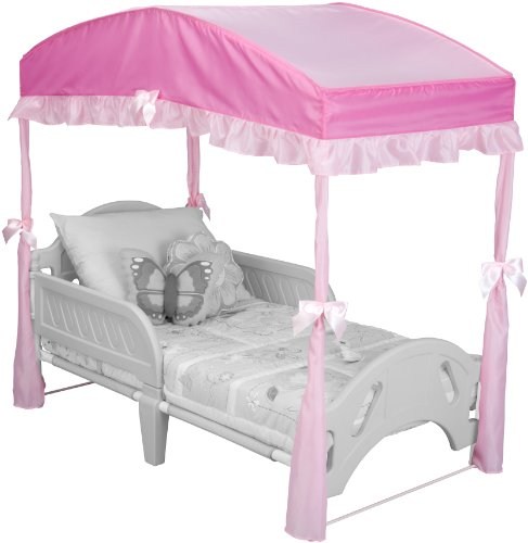Delta Children Girls Canopy for Toddler Bed, Pink (Toddler Bed Replacement Parts)