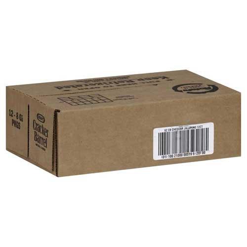 Cracker Barrel Natural Cheese-Chunks Cheddar/Jalapeno, 8 Ounce -- 12 per case.