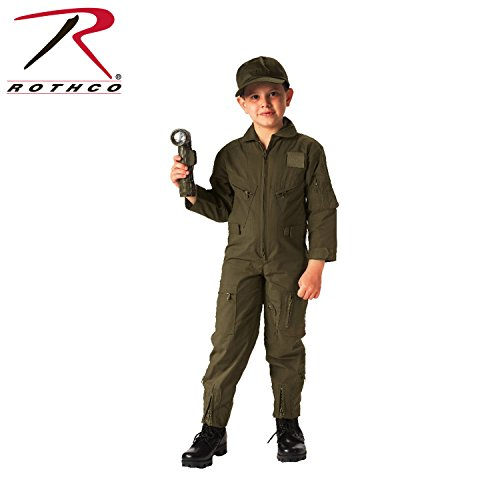 Boys Flight Suit - Rothco Kids Flight Coverall - Olive