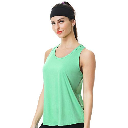 HISOKOI Workout Tank Tops for Women Sleeveless Racerback Loose Fit Yoga Tops