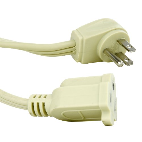Sunlite 04145-SU EX3/AP Short Appliance Extension Cord Three Prong, 14/3 Gauge, 15 Amp, 3', Beige
