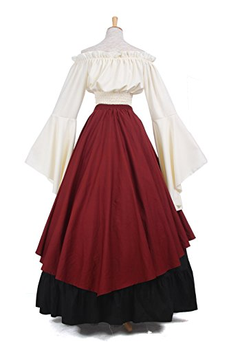 Kleid Nuoqi Kostüm Gc229b ni Langarm Maxi Königin Damen Party Kleid Mittelalterliche AgBaqFWgT