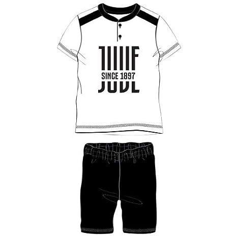 4154fb16ff DIVASPORT Pigiama A Maniche Corte Bambino F.C. Juventus - Prodotto Ufficiale  (3 Anni, Bianco