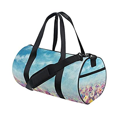 good Gym Sports Bag Floral Oil Painting Flowers Travel Duffel Bag for Men  and Women 81adde424d