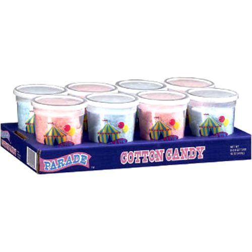 Parade Cotton Candy, 2 Ounce, 8 Count