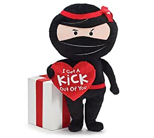 "Burton & Burton Plush Valentine Ninja 16"""
