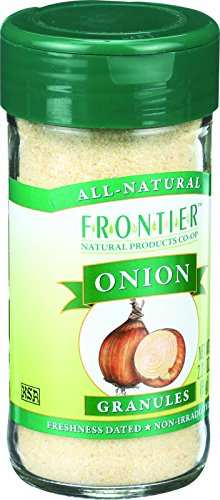 Frontier Onion Granules - Frontier Herb Onion - Granules - White - 2.29 oz