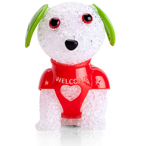 og Shape Kids Night Lights 7-Color Changing Bedside Baby Nursery Animal LED Desk Lamp Cute Birthday Room Decor for Women Toy Decorations Battery Operated, Red Harness ()