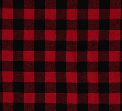 flannel buffalo plaid 125 buffalo check red black woven cotton flannel fabric op1200