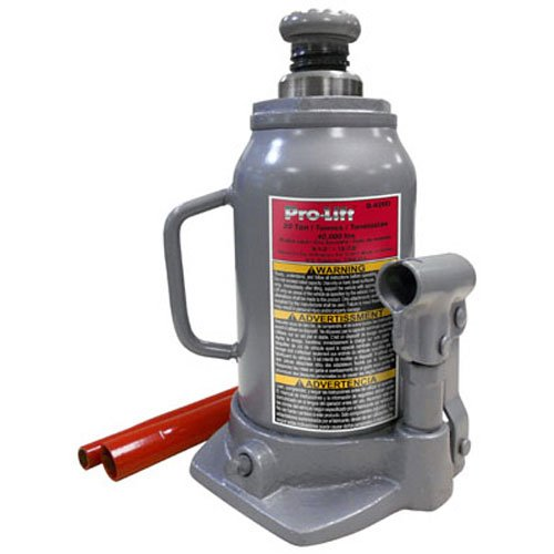 Pro-Lift B-020D Grey Hydraulic Bottle Jack - 20 Ton Capacity (Air Hydraulic Pump With Cylinders)