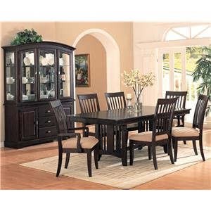 Monaco 7 Piece Formal Dining Room Group with China Cabinet