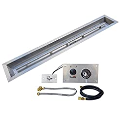 Fire Pits Stanbroil 48 x 6 inch Linear Drop-in Fire Pit Burner Pan with Spark Ignition Kit Natural Gas Version, Rated for up to 91… firepits