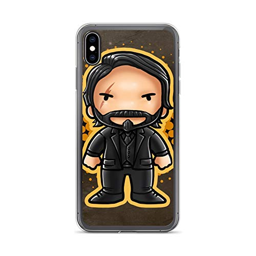 iPhone Xs Max Case Anti-Scratch Animated Cartoon Transparent Cases Cover Soldier Video Game Chibi Style Cartoons Caricature Crystal Clear