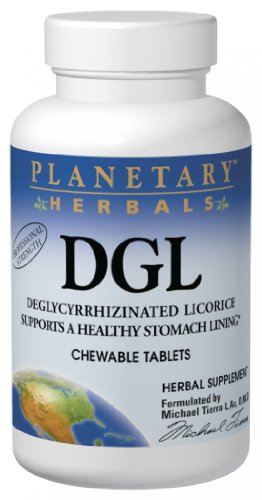 Planetary Herbals DGL, Chewable Tablets, 200 tablets (Pack of 2)
