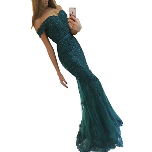 Chady New Off The Shoulder Prom Dresses 2017 Mermaid Style Beading Tulle...