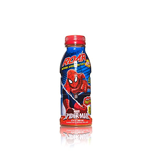 Price comparison product image ROAR Kids - Spider-man Fruit Punch,  All Natural Sports Drink,  No Artificial Preservatives,  Coloring or Flavors - 12 oz. Bottle (12 pack)