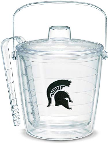 (Tervis 1053419 Michigan State Spartans Helmet Ice Bucket with Emblem and Clear Lid 87oz Ice Bucket, Clear )